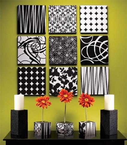 Cuadros minimalistas con cajas de carton