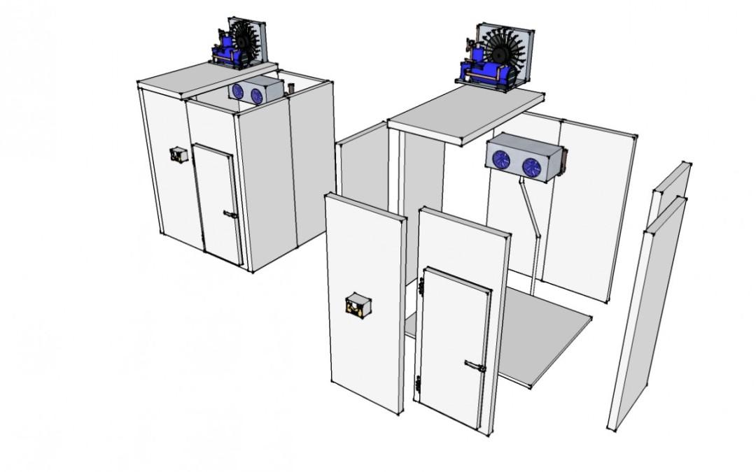 Partes y funcionamiento de una cámara fría