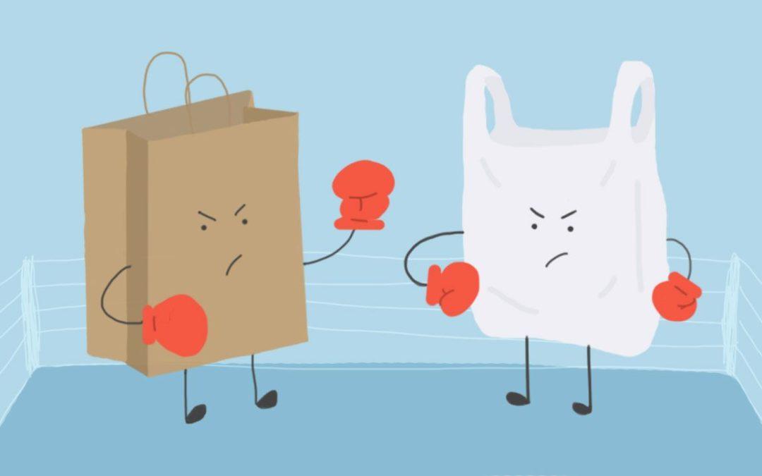 ¿Qué contamina mas, bolsas de papel o de plástico?